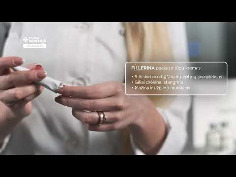 FILLERINA paakių ir lūpų kremas su 6 hialurono rūgštimis ir peptidais, 2 lygis, 15 ml