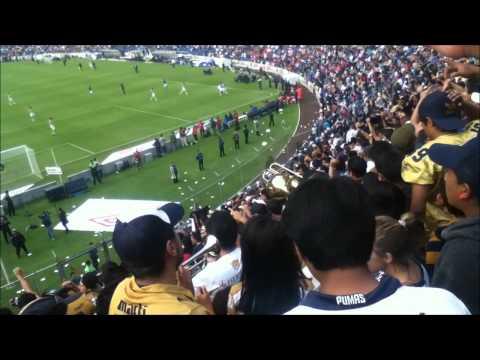 """""""la rebel me estoy enamorando y gol de Daniel Ramirez (cruz azul vs pumas) 26 abril 2014"""" Barra: La Rebel • Club: Pumas"""