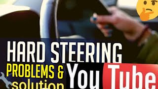 How to fix hard steering wheel on any car or truck (Easy)