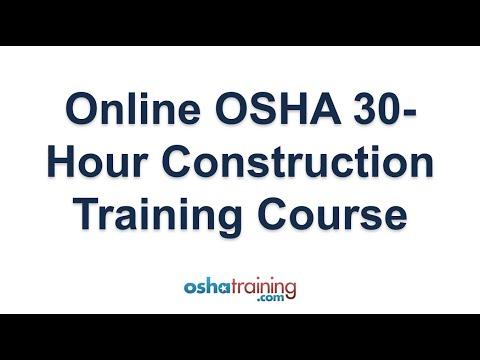 Online OSHA 30 Hour Construction Training Course - YouTube