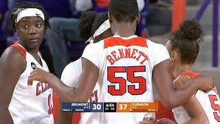 Clemson Women's Basketball    Highlights vs. Belmont