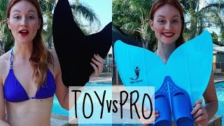 Mermaid Tails Comparison - Toy Vs Professional Monofin