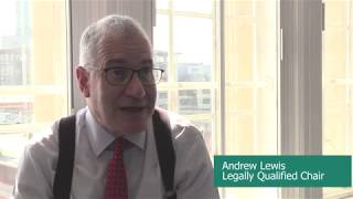 MPTS tribunal chair Andrew Lewis offers advice to people attending a hearing