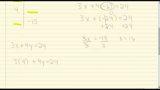 Linear Equations in two Variables: Completing a Table of Ordered Pairs - Example
