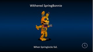 FNAF World Fanmade Loading Screens Speed Edit part 1 : Withered SpringBonnie And FredBear