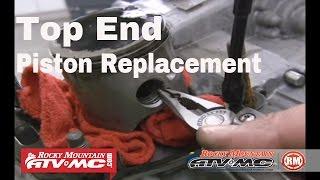 Motorcycle 2 Stroke Top End Rebuild - Piston Replacement