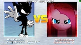 Dark sonic (yo) y Nightmare sparkle vs Pinkamena y Sonic.exe ll Sonico Gamer 587