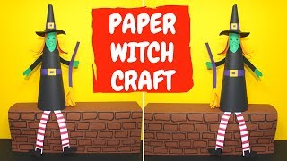 How To Make A Paper Witch | Halloween Crafts For Kids