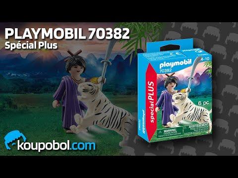 Vidéo PLAYMOBIL Special Plus 70382 : Combattante ninja et tigre