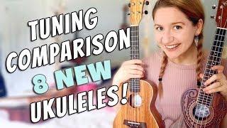 Tuning Comparison: 8 NEW UKULELES!