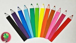 簡単・かわいい折り紙 一枚でできる色鉛筆の折り方 子供向け / fukuoriroom