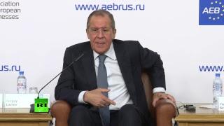 Брифинг с участием Лаврова на тему «Отношения между Россией и ЕС»