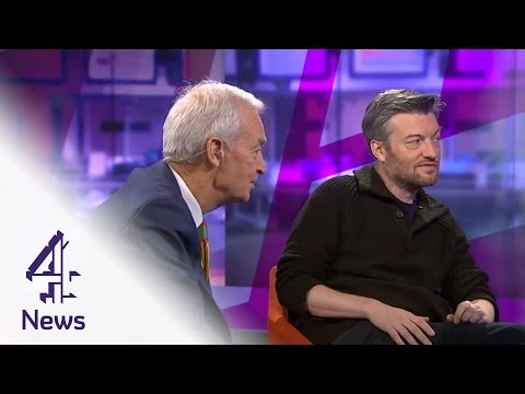 Charlie Brooker teaches Jon Snow to play video games | Channel 4 News
