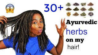 30 + Ayurveda Herbs Treatment For Stronger Healthy Hair Growth | Natural Hair Length Retention