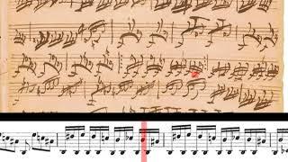 BWV 598: Pedal Exercitium (Scrolling)
