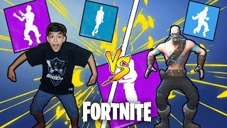 Little Brother Attempts To Do All *NEW* Fortnite Dances In Real Life Challenge!
