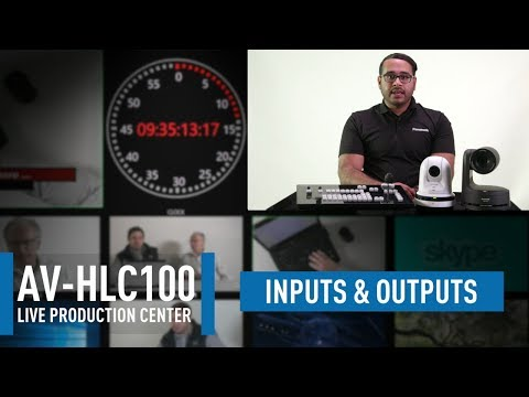 AV-HLC100 Live Production CenterAV-HLC100 Live Production Center: Inputs & Outputs