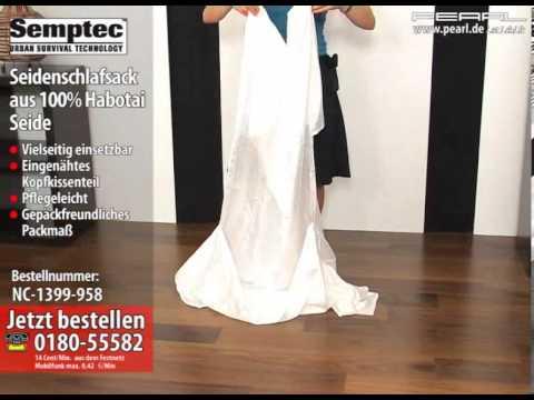 Seidenschlafsack aus 100% Habotai-Seide (Hüttenschlafsack)