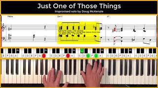 Just One Of Those Things - Jazz piano tutorial.