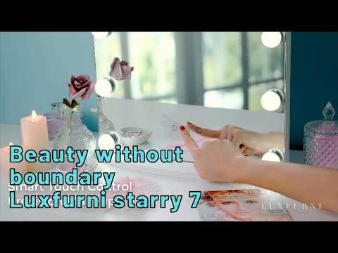 Hollywood mirror Frameless LED Makeup Mirror with Light Dimmer