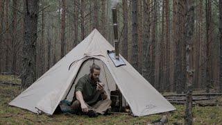 Bushcraft trip. Hot Tent. Yakut Knife. Wild cuisine.