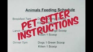 Pet Sitter Instructions | Dog Mom Life