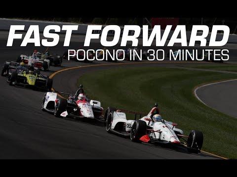 インディカー第14戦ポコノ・レースウェイ 30分で見るハイライト動画