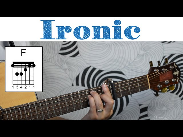 Ironic - Alanis Morissette | Easy Guitar Tutorial, Simple Chords and Strumming