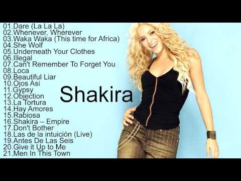 Shakira All Songs 2017 || Shakira Greatest Hits Playlist [Music In The World]