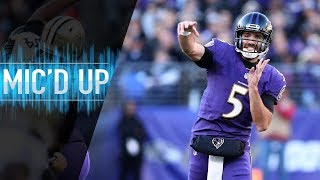 """Joe Flacco Mic'd Up vs. Saints """"I Bought a Mattress From Your Brother on the Jersey Shore"""" 