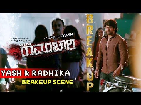 Yash Movies | Yash And Radhika Love Breakup Scenes | Mr And Mrs Ramachari Kannada Movie