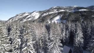 Winter Hiking from drone.