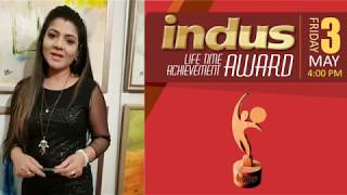 Indus Life Time Achievement Award Lahore Anchor Sadia Anwar