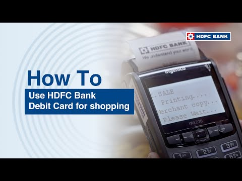 Hdfc ad on how to use hdfc card