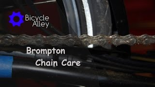 Cleaning And Lubricating A Brompton Folding Bicycle Chain