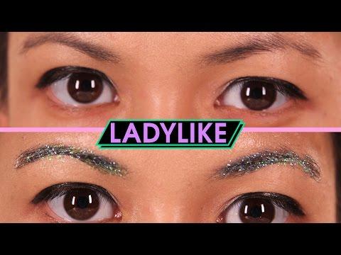 Women Try Glitter Eyebrows • Ladylike