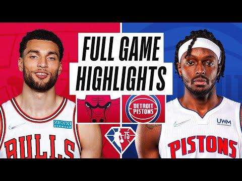 BULLS at PISTONS | FULL GAME HIGHLIGHTS | October 20, 2021