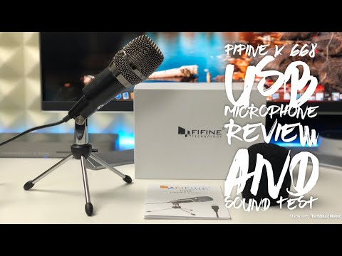 FIFINE K668 USB Microphone Review & Sound Test
