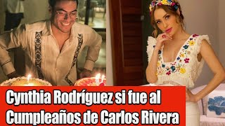 Cynthia Rodríguez estuvo en cumpleaños de Carlos Rivera y así la pasaron!