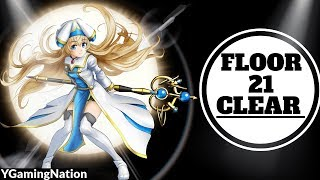 Grand Summoners - Floor 21 Clear - No Tank, Defensive Equips, or Paralyze Strat!