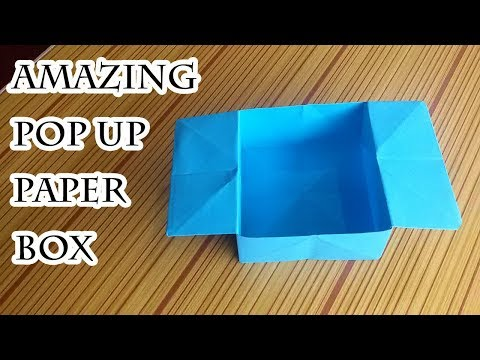 How to Make Amazing Popup Paper Box out of Square Paper, Must Watch