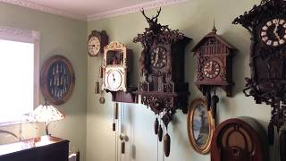Final Video of five figure bell clock from the 1800's