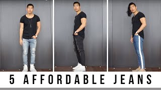 5 Affordable Jeans For Guys | Mens Fashion | Levitate Style