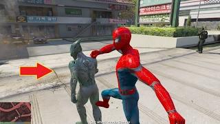 GTA 5 Mod - Green Goblin đánh nhau với Spider-Man (Người Nhện)
