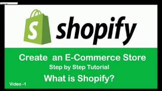 Shopify Hindi Tutorial l How to Create an E-commerce Store l Introduction to Shopify l Part-1