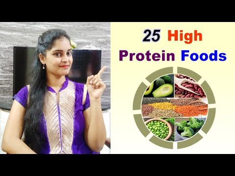 Top 25 High Protein Food List in Telugu || Food,Calories in indian food items|| Best protein foods||