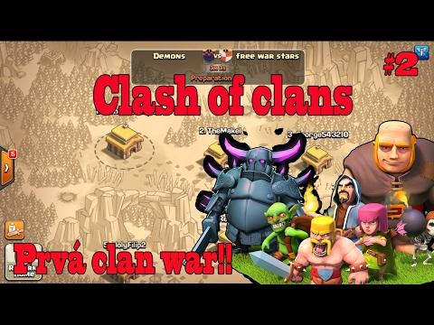 Clash of clans [Fans Séria #2] Demoni idú do boja/Prvá clan war !!! SK Let's play