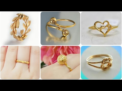 Gold ring designs without stones for female | latest designs of gold rings for women 💍