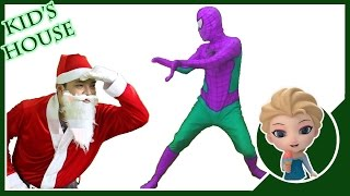 Spiderman And Santa Claus Finger Family Collection - Nursery Rhymes Christmas songs For Kids