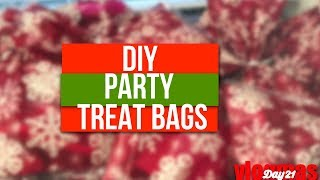 DIY Kids Classroom Treat Bags - Christmas Party Favor Bags - Vlogmas Day 21 2017